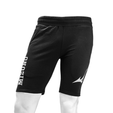 Training Shorts with Brush Print Logos MEN BLACK