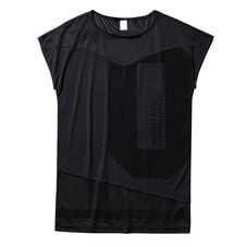 Mesh Tee shirt Women Black