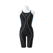 FX / SONIC for swimming race + half suit for WOMEN Black x Turquoise