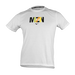 Crossing Print Tee Men White