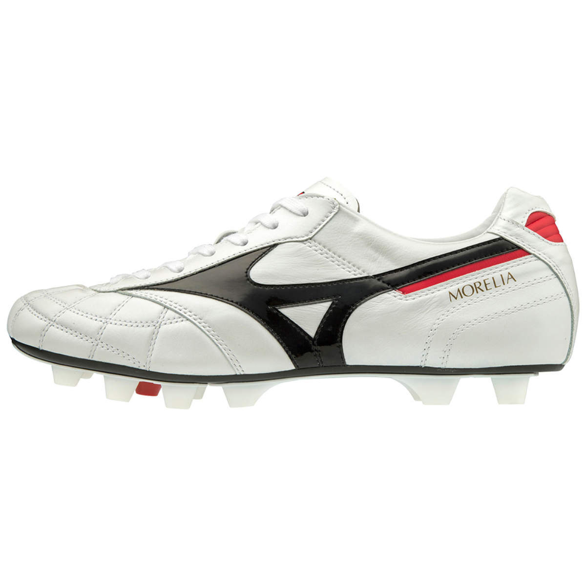MORELIA II JAPAN (SHORT TONGUE/CROSS STITCH) White / Black / Chinese Red